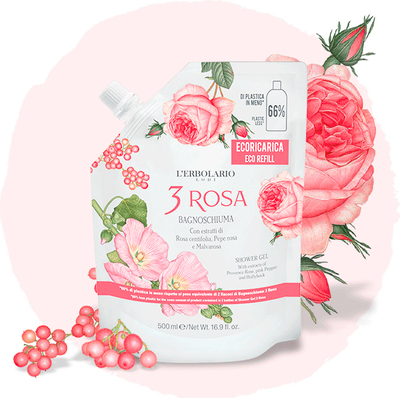 eco-ricarica 3 rosa 800 ml bagnoschiuma