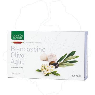 Integratore Biancospino, aglio, olivo