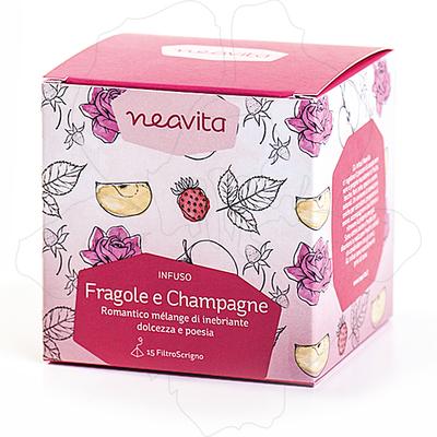 Tisana filtro scrigno: Fragole e Champagne