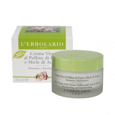 Crema viso al Polline di Fiori e Miele di Acacia 50 ml