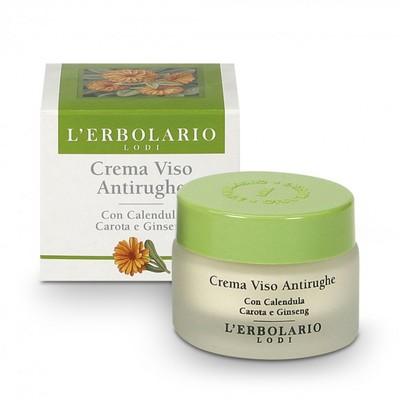 Crema viso Antirughe con Calendula, Carota, Ginseng 30 ml l'Erbolario