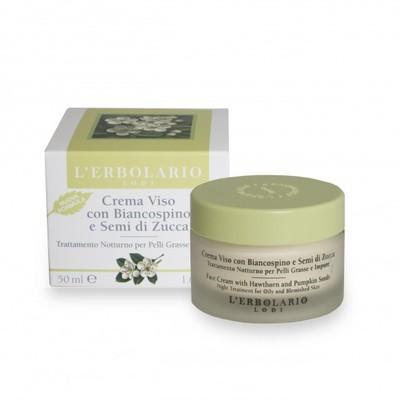 Crema viso con Biancospino e Semi di Zucca Trattamento Notte 50 ml