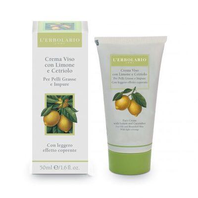 Crema viso con Limone e Cetriolo per pelli miste con leggero effetto coprente 50 ml