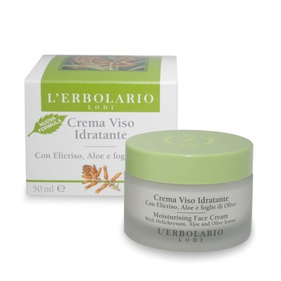 Crema Viso Idratante con Elicriso Aloe e foglie di Olivo 50 ml