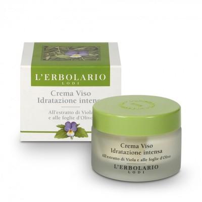 Crema Viso Idratazione Intensa al l'estratto di viola e foglie di Olivo 50 ml