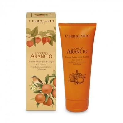 Accordo Arancio Crema Fluida per il corpo l'Erbolario 200 ml