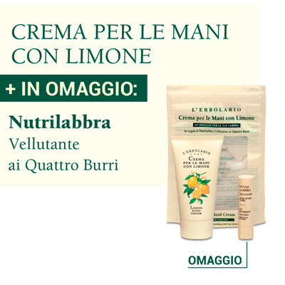 Crema per le mani con limone L'Erbolario + Nutrilabbra