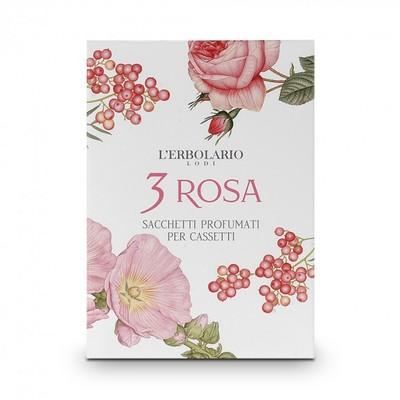 4 Sacchetti Profumati per Cassetti 3 Rosa l'Erbolario