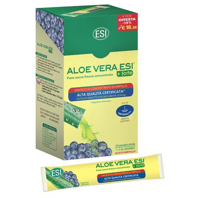Aloe vera  ESI 24 pocket drink gusto mirtillo