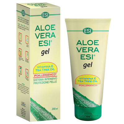 Aloe vera  ESI gel 200 ml vitamina E e tea tree