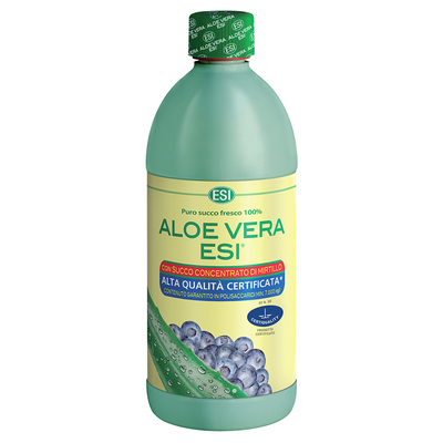 Aloe vera puro succo fresco 100% con succo di mirtillo  ESI