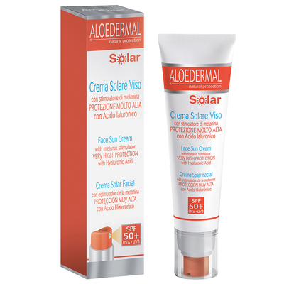 Aloedermal Solar crema solare viso SPF50