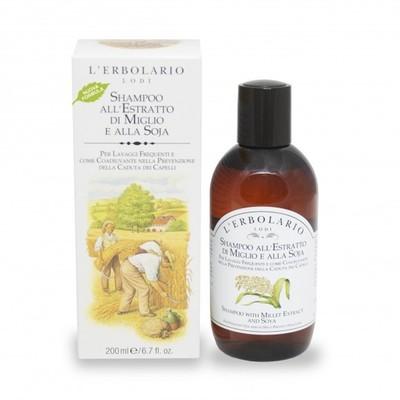 Shampoo all'estratto di Miglio e alla Soja  l'Erbolario 200 ml