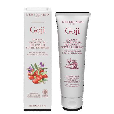 Balsamo antirottura per capelli sottili e sfibrati Goji 125 ml