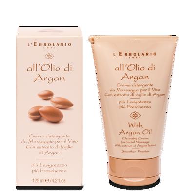 Crema detergente viso con estratto di foglie di Argan l'Erbolario 125 ml