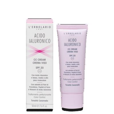 Acido Ialuronico CC Cream crema viso SPF 20 tonalità caramello 50 ml