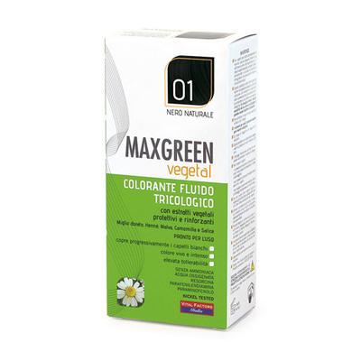 Colorante fluido tricologo Max Green nero naturale  01