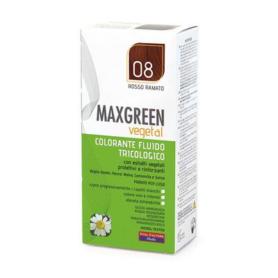 Colorante fluido tricologo Max Green Rosso Ramato  08