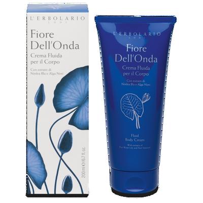 Crema fluida per il corpo Fiore dell'Onda l'Erbolario 200 ml