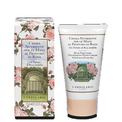 Crema nutriente per le mani al profumo di Rosa