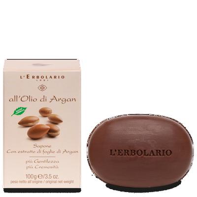 Sapone con estratto di foglie di Argan l'Erbolario 100g