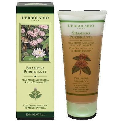 Shampoo purificante alla menta acquatica e alla vitamina E