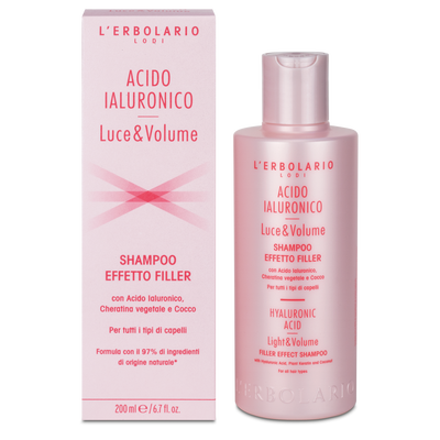Shampoo effetto filler all'Acido Ialuronico l'Erbolario 200 ml