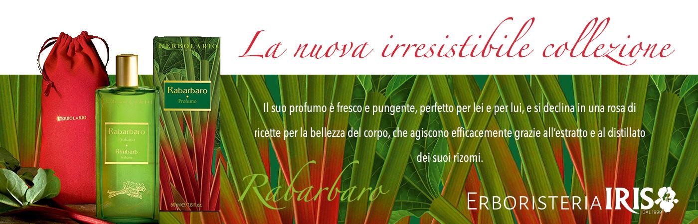 Slide home page nuova linea l'Erbolario Rabarbaro