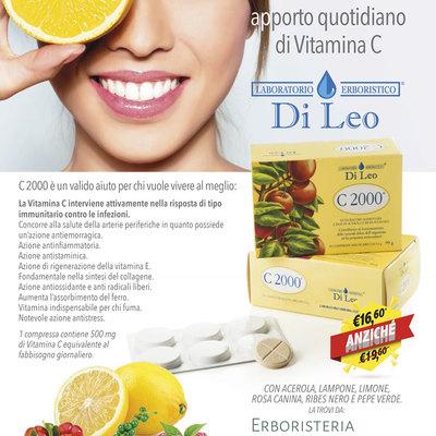 Vitamina C 2000 Laboratorio Erboristico Di Leo